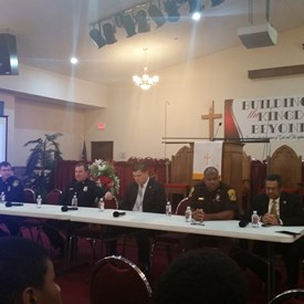 New Beech Grove Baptist Church held an important event that included a panel discussion on community relations with the NNPD.  This was a fruitful discussion that we must continue!