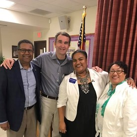 Lt. Governor Ralph Northam with NN Mayor McKinley Price, Mrs. Price, and me at a local event