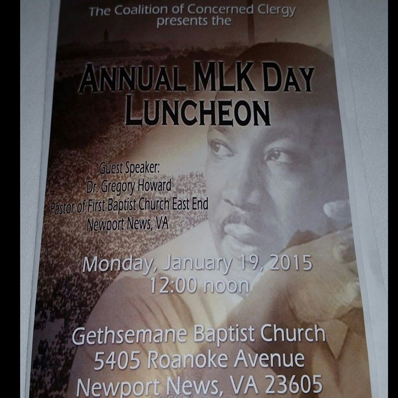 Marcia attended the Coalition of Concerned Clergy's Annual MLK Day Luncheon.  They celebrated the life of Rev. Dr. Martin Luther King, Jr and talked about the amazing summer program they have for kids.