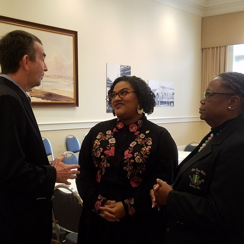 Lt. Governor Ralph Northam and Sen. Mamie Locke at a youth roundtable on STEM opportunities I co-hosted at the Hampton History Museum.