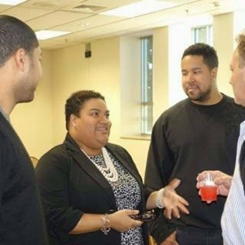 Talking with supporters - Photo by AG Price
