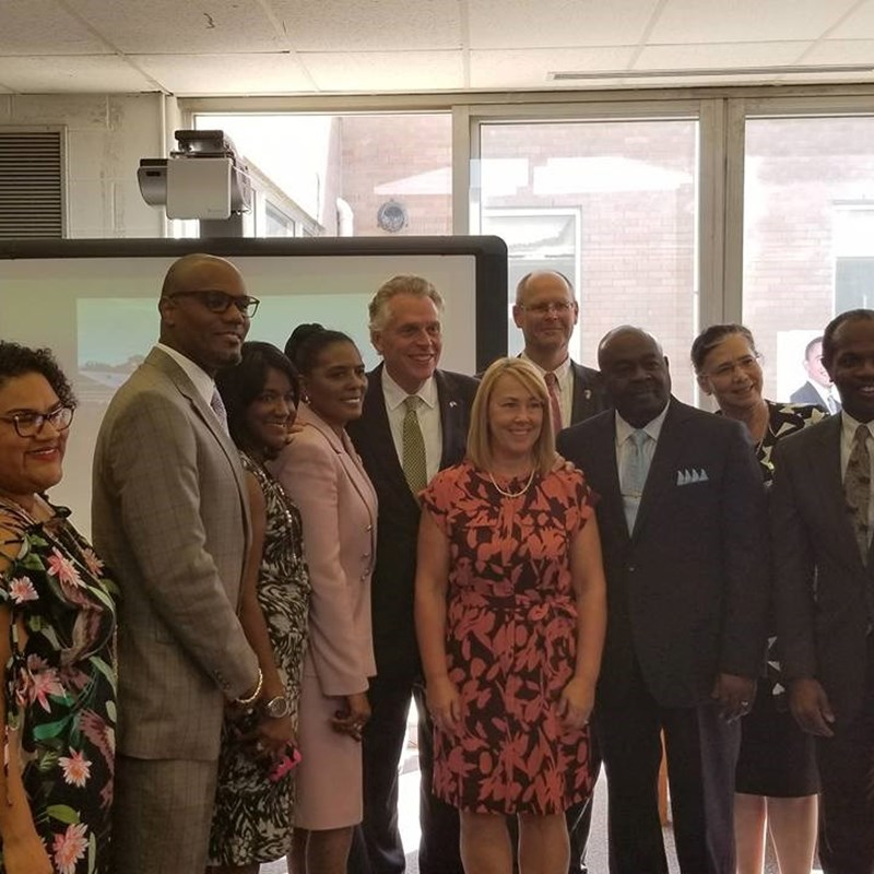 Gov. Terry McAuliffe visited Bethel High School in the 95th District to tour their STEM related initiatives
