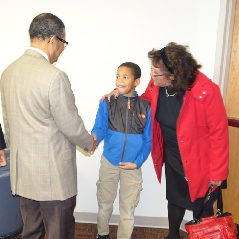 Meeting the Mayor - Photo by AG Price