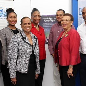 Judge Whitener meets with Board Members of Family Planning Association of Trinidad and Tobago