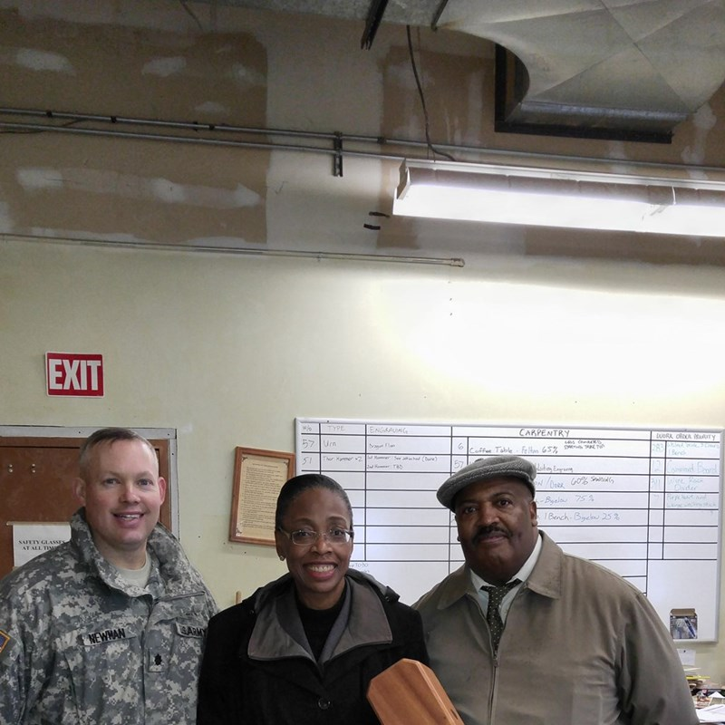 With LTC Stephen Troy Newman, Commander, 508th Military Police Detention Battalion and Deputy Director, Ennis L. Hobbs.