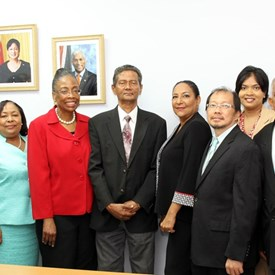 Judge Whitener meets with Board members of the Equal Opportunity Commission of Trinidad and Tobago