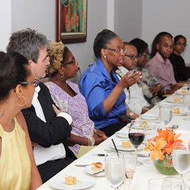 Dinner with 21 leaders in the Human Rights community