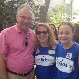 Carol attended the Put Kids First Rally in spring of 2015.