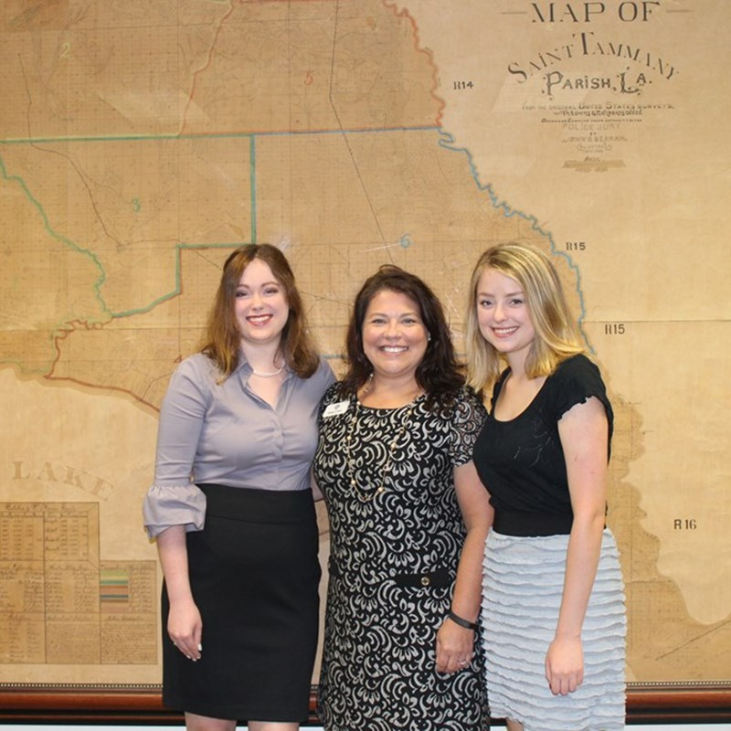 2017 LA Clerks of Court Scholarship Recipients - Emery & Ashley Gilly