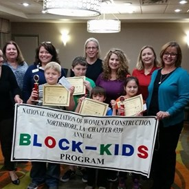 Judging the NAWIC (National Association of Women in Construction) Block Kids Competition 2017