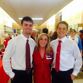 Willis High School Young Republicans President, a second year member, with me at the Ben Carson event.
