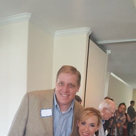 Kurt Jones and I at The Woodlands Republican Women September luncheon.