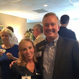 Rand Henderson and I at the Montgomery County Republican Women September event.