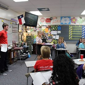 September 2015 meeting of the Willis High School Young Republicans.