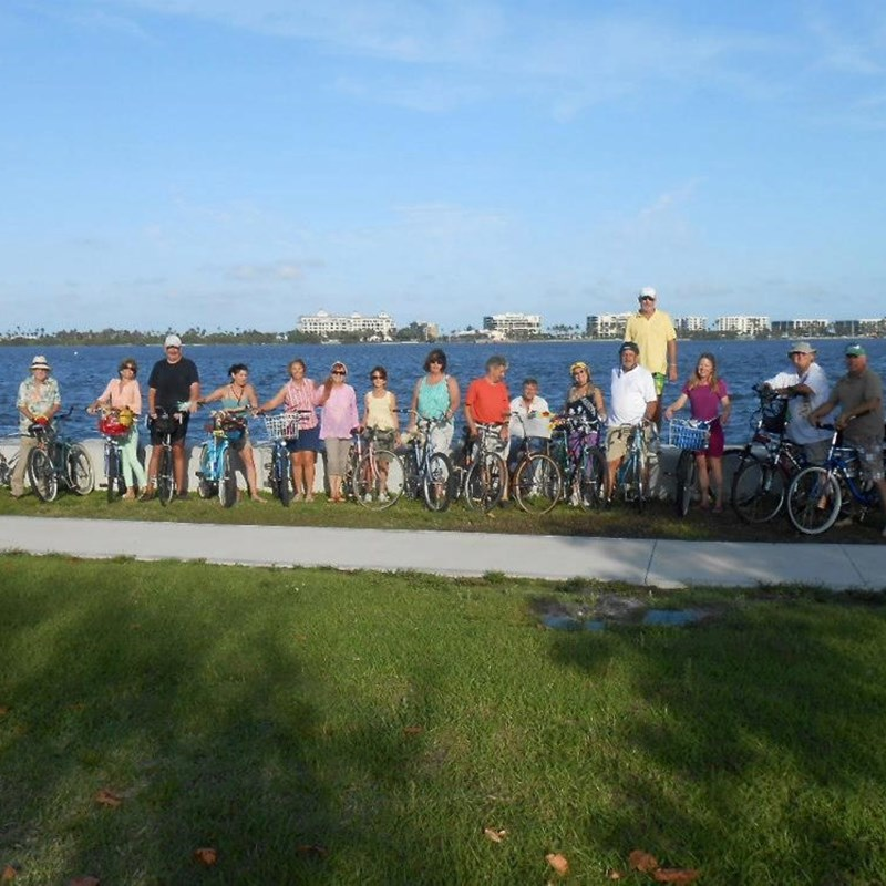 Yes. lake Worth is a truly bikeable city...but nobody bikes better when the neighbors get together on Thursday nights at 6 PM.  Hey, Who is that good looking guy with the new bike and the truly startled look on his face?  Just kidding...it's like they say...you never forget