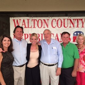 Walton County Republicans welcome State Attorney General, Pam Bondi, to a pizza party at the Walton County Republican Victory office.