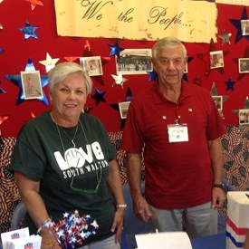 Walton County District Two Commissioner Cecilia Jones stands next to State Committeeman Bill Fletcher at the Walton County Fair