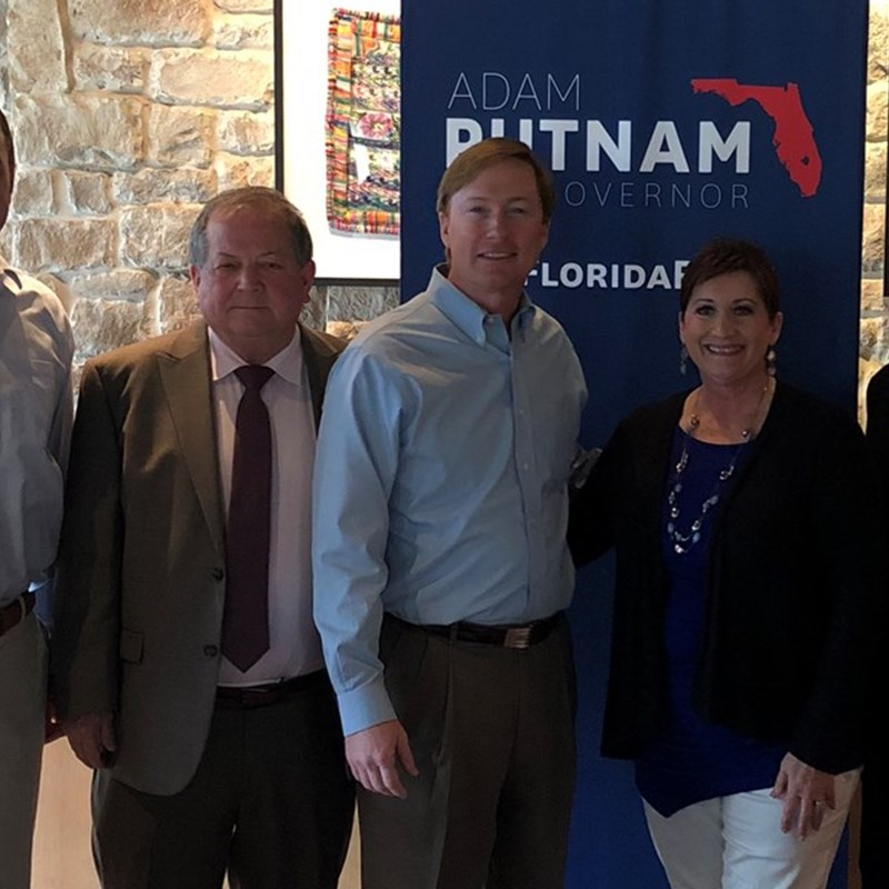 Commissioner Adam Putnam joins Members of joint meeting of the WCREC, North and South Republican Clubs, and WRWF.