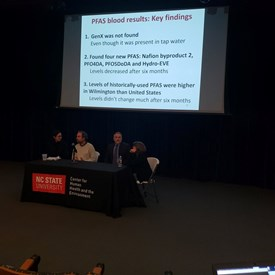 On Tuesday, November 13, I attended the N. C. State University Researchers' public meeting to discuss the GenX blood tests results based on samples taken from 345 New Hanover County residents primarily during November of 2017.