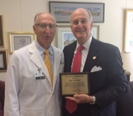 Patient Champion Award   I have received a 2016 Patient Champion Award by the North Carolina Orthopaedic Association for my support of lower healthcare costs through Certificate of Need reform legislation, as well as being a champion of patient choice and outpatient surgery and imaging services.