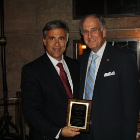 """I received a """"Legislative Award"""" from the North Carolina Metropolitan Mayors Coalition in recognition of my work on behalf of the State Film Industry.  This is a picture of the award presentation by Wilmington Mayor, Bill Saffo on behalf of the Coalition."""
