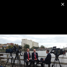 Filming Capital Tonight: with Hal Kitchin give us an overview of the growth in the Port City.