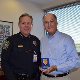 """I received an Honorary Wilmington Police Department Officer badge, #19 in recognition of representing House District 19, """"with gratitude"""" for legislation that I had sponsored on behalf of the City of Wilmington and the Wilmington Police Department."""