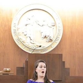 """During a Special Session on January 11, 2017, I was sworn-in as a member of the House of Representatives for the 2017-2018 Legislative biennium.  I am extremely proud that my daughter, Amy, sang """"God Bless America"""" during the ceremony."""
