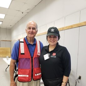 The Salvation Army is such a wonderful Christian organization. I helped them to distribute supplies, which included clean-up kits, brooms, mops, tarps, food boxes, water, hygiene items, and infant items. All of the volunteers were so friendly and respectful of the individuals that came for help, and those who received the supplies were thankful to get them.