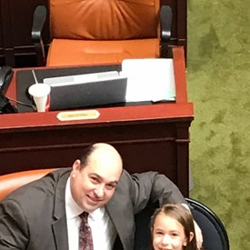 With Taylor on the House Floor