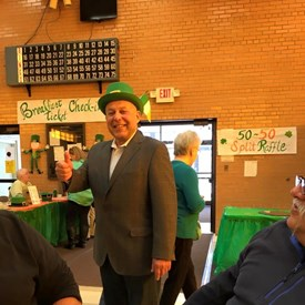 Celebrating the Luck of the Irish at the LAOH Irish Breakfast this past Sunday.