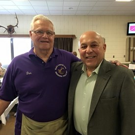 With my friend Dan Kelly at the Elks Lodge #346 membership event after I just became a new Elk. Stop down today to learn more about this organization