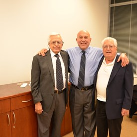 Time Cleaner owners, Joe & Frank D'Angelo with their Friend, Judge Morinello