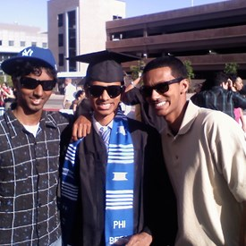 With my two younger brothers after graduating from UNLV.
