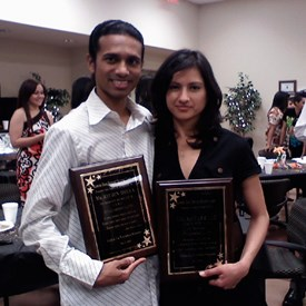May 2010: Receiving and award from Rancho High School's Hispanic Student Union.