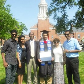 With my family at my graduation from Yale University