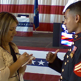 Nov. 2007: Interview with Univision after my naturalization ceremony.