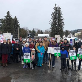 Had a great time standing up for the voiceless at the Right To Life March in Iron Mountain.