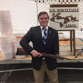 I was honored to attend the Alger County White Tails Association banquet this fall. I was lucky enough to take home this beautiful gun as well.