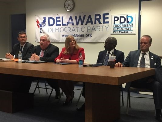 Democrats running for New Castle County government's highest elected offices faced-off. The forum, hosted by the Progressive Democrats for Delaware, featured candidates running for New Castle County Executive  and County Council President, reported The News Journal.