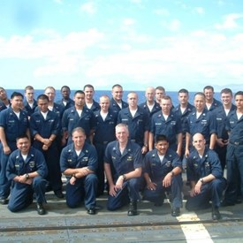 With my department in USS FORD, underway