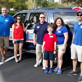 Team Justice at the Seminole Pow Wow Parade