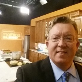 Getting ready to tape Morning Blend on ABC 28.
