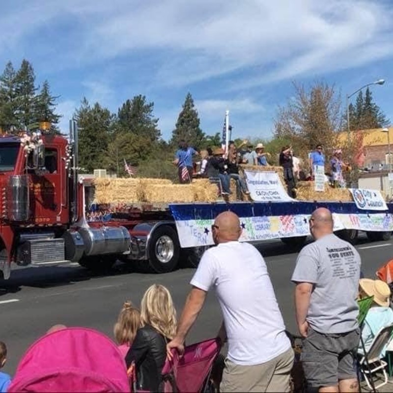 As Mayor, I was proud to highlight Sebastopol non-profit organizations on our themed float in the Apple Blossom Parade (2019)