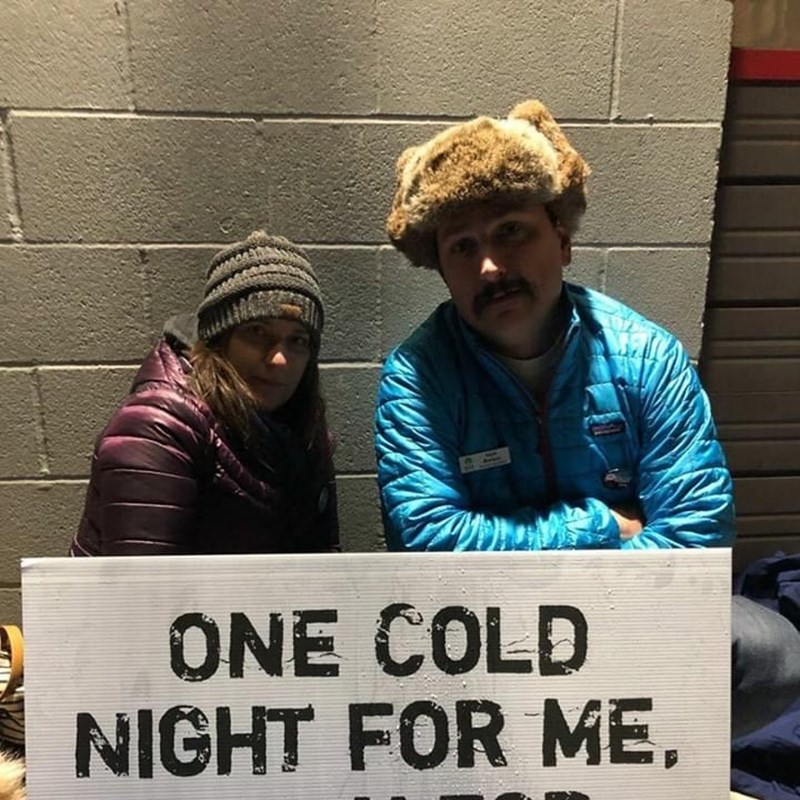 "SAY 2018 Fundraiser ""One Cold Night"".  Raised money for this great cause and spent a cold night outside."