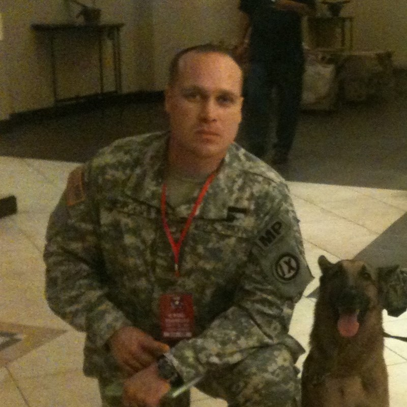 With our explosive sniffing dog