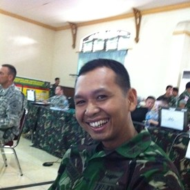 Major Suhendro, one of the most positive guys I met over there. He was so sharp he was selected to serve on an exchange program to go to England to study London's public transportation system and then work on the transportation system in Jakarta.