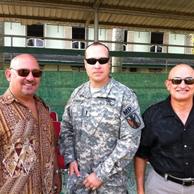 With the very famous A.W. Moss and Colonel (R) Tony Diaz, US Army