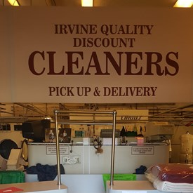 Thank you to Irvine Quality Discount Cleaners to be the first business to hang our signs.