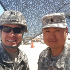 with our unit chaplain in training. 1LT Lee.